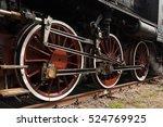 Detail Of Vintage Steam Train...