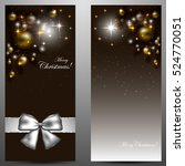 elegant christmas card with... | Shutterstock .eps vector #524770051