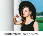 high fashion outdoor full... | Shutterstock . vector #524770891