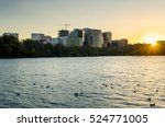 Rosslyn Skyline At Sunset With...