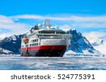 cruise ship with tourists in... | Shutterstock . vector #524775391