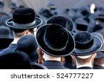Crowd Of Anonymous Hasidim  Me...