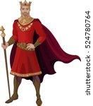 illustration of fantasy king... | Shutterstock .eps vector #524780764