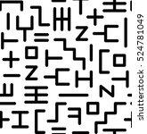 abstract random geometric... | Shutterstock .eps vector #524781049