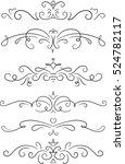 set of 6 decorative swirls... | Shutterstock .eps vector #524782117