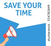save your time announcement.... | Shutterstock .eps vector #524782849
