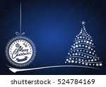 christmas background with... | Shutterstock .eps vector #524784169