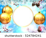 christmas. background with... | Shutterstock .eps vector #524784241