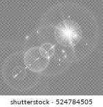 vector transparent sunlight... | Shutterstock .eps vector #524784505