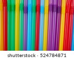 colorful drinking straws for...   Shutterstock . vector #524784871