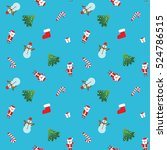seamless christmas patterns.... | Shutterstock .eps vector #524786515