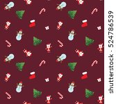 christmas patterns. new year... | Shutterstock .eps vector #524786539