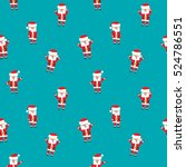 seamless christmas patterns.... | Shutterstock .eps vector #524786551