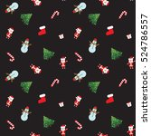 christmas patterns. new year... | Shutterstock .eps vector #524786557