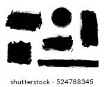 set of black paint  ink  grunge ... | Shutterstock .eps vector #524788345