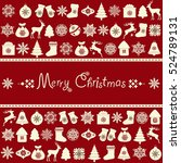 christmas greeting card  | Shutterstock .eps vector #524789131