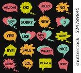 speech bubble pattern. drawing...   Shutterstock . vector #524789845