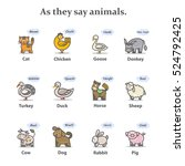 farm animal sounds. farms... | Shutterstock . vector #524792425