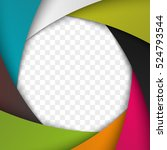 colorful camera shutter... | Shutterstock .eps vector #524793544