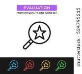 vector evaluation icon....