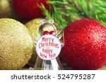 merry christmas and happy new... | Shutterstock . vector #524795287