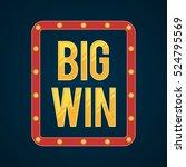 big win retro banner with... | Shutterstock .eps vector #524795569