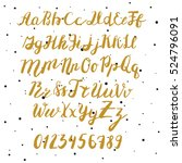 hand drawn golden font for your ... | Shutterstock .eps vector #524796091