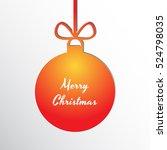 silhouette of a christmas ball... | Shutterstock .eps vector #524798035