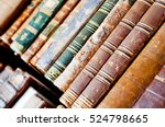 Old Antique Books Background....
