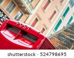 red letter box. mail service... | Shutterstock . vector #524798695