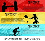 sports horizontal banner with... | Shutterstock .eps vector #524798791