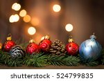 christmas background with... | Shutterstock . vector #524799835