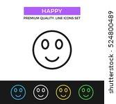 vector happy emoticon icon....