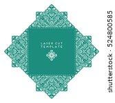 vector wedding card laser cut...   Shutterstock .eps vector #524800585