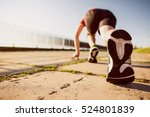 Small photo of Marathon run shoe. Outdoor workout. Sport athlete, runner training. Athletic fitness exercise. Young yogger leg, fit. Healthy lifestyle. Active people wellbeing.