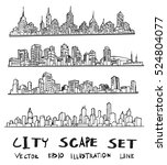 doodle of cityscape vector... | Shutterstock .eps vector #524804077