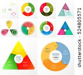 vector circle infographic set.... | Shutterstock .eps vector #524805571