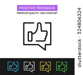 vector positive feedback icon.... | Shutterstock .eps vector #524806324
