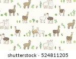 lama vector pattern | Shutterstock .eps vector #524811205