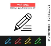 vector writing icon. pencil and ...