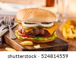 Appetizing Hamburger With Frie...