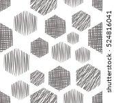 seamless vector  geometrical... | Shutterstock .eps vector #524816041