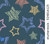 seamless vector  geometrical... | Shutterstock .eps vector #524816125