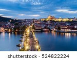Cityscape Of Prague With Castle ...