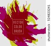 vector color brush | Shutterstock .eps vector #524823241