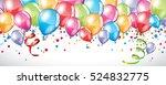 vector festive balloons...   Shutterstock .eps vector #524832775