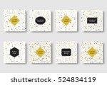 bauhaus design. geometric... | Shutterstock .eps vector #524834119