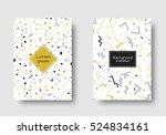 retro design. set for cover ... | Shutterstock .eps vector #524834161