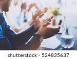 close up view of young business ... | Shutterstock . vector #524835637