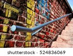 Old Metal Handrail On A Wall...